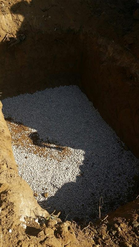 fond pour deposer cuve eau pluie enterree