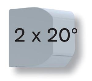 caisson 2x20°