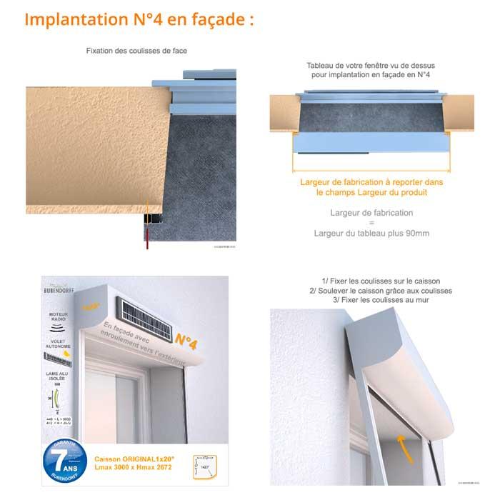 implantation n°4 en façade Mono ID+