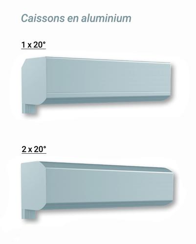 type de caisson 1x20° et 2x20°