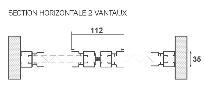 moustiquaire latérale avec 2 vantaux sécables