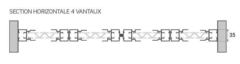 moustiquaire avec 4 vantaux acordéon