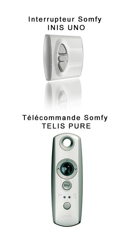 telecommande et interrupteur SOMFY brise soleil orientable
