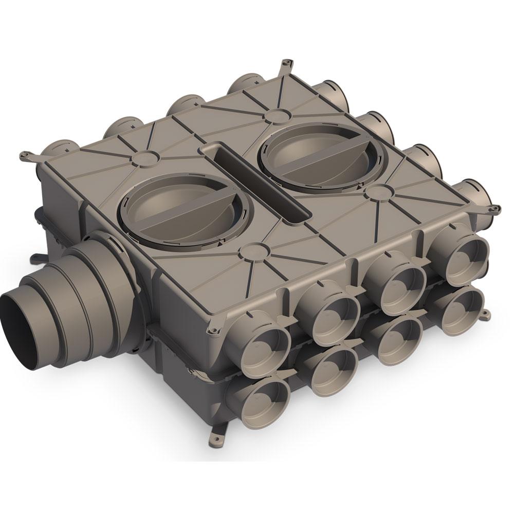 Caisson multi config. 24 Piquages