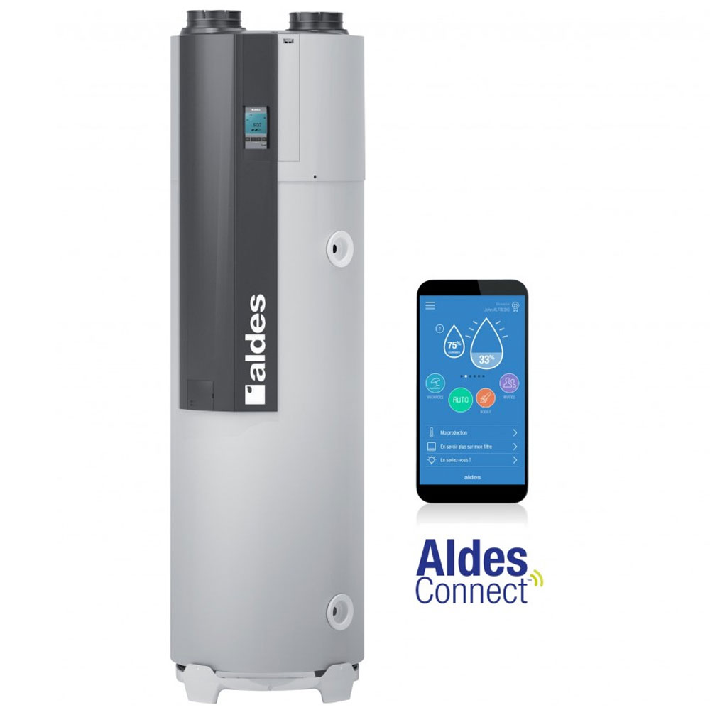 Chauffe eau thermodynamique sur air extrait T Flow Hygro+