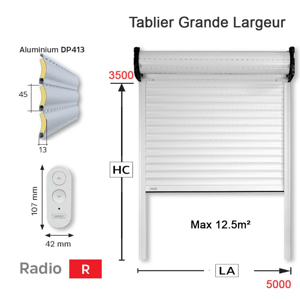 Volet Roulant Tradi Design Pour Les Grandes Largeurs De 5 M En