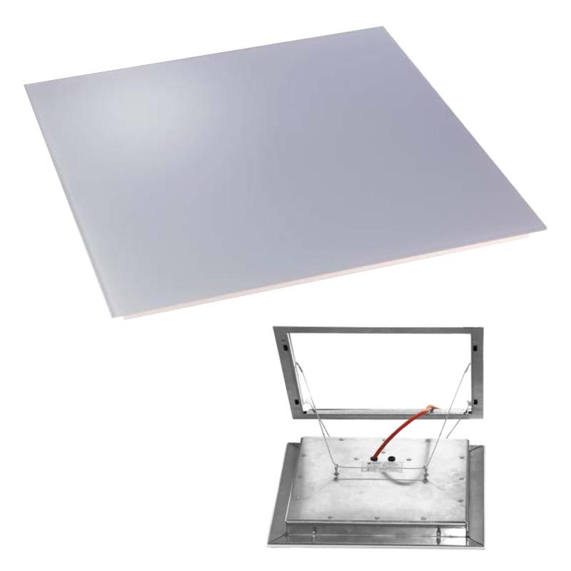Panneau infrarouge encastré dans le plafond