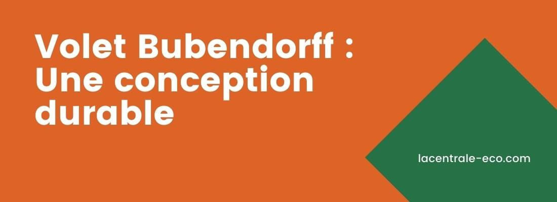 developpement durable bubendorff