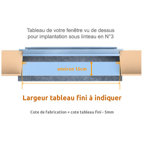 largeur de fabrication d'un volet N°3