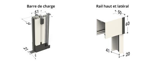 Soffy barre de charge et rail haut latéral