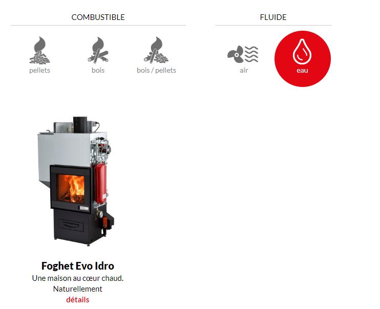 cheminée hydraulique FOGHET EVO