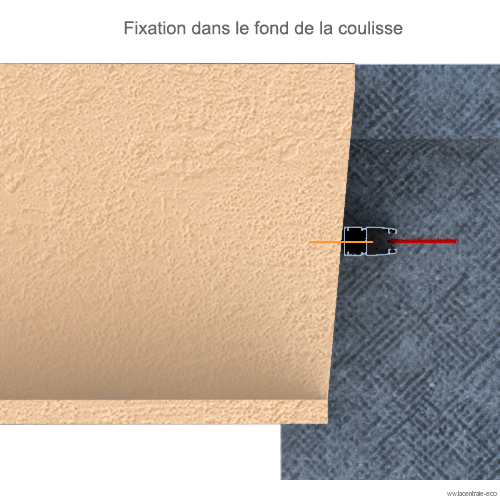 Fixation de la coulisse dans le mur